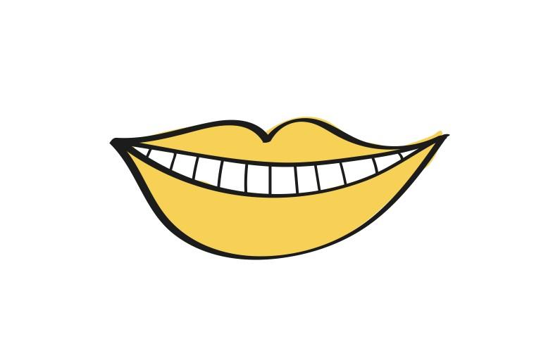 smile logo illustration by ana moyano