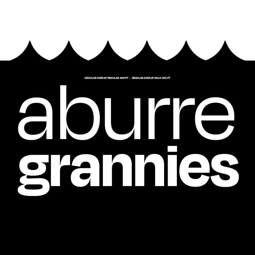 Fragment typographic specimen aburre grannies